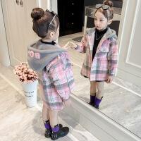 女童秋冬装2018新款呢子大衣儿童装大小童加厚中长款韩版毛呢外套