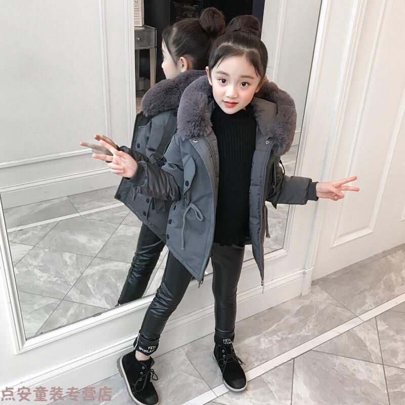冬季女童棉衣2018新款儿童冬装外套韩版女孩洋气棉袄大童保暖羽绒秋冬新款