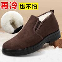 老北京布鞋男棉鞋加绒冬季中老年老人防滑软底羊毛保暖中年爸爸鞋