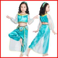 阿拉丁神灯 万圣节cos儿童茉莉公主亲子装舞蹈服装