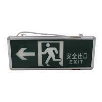 夜光安全标志牌 消防应急标志灯 疏散指示灯 安全方向标识牌 可安装电源单面字14*34cm