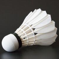 耐打羽毛球12只装训练用鹅毛羽毛球室内6只装黑鹅毛耐打王羽毛球