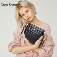 【1件3折,到手价:83.4元】Clous Krause ck包包新款时尚菱格斜跨包简约小香风单肩包优雅小众蜜蜂装饰单