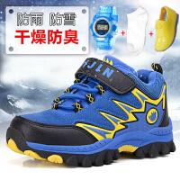 冬季男童鞋2017新款男童棉鞋儿童加毛加绒运动男童大棉鞋大童棉鞋防水
