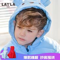 lavla童装 春秋款儿童装宝宝冬季女童棉袄婴儿棉衣男童外套棉服
