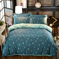 全棉卡通四件套海绵宝宝加厚加绒被套三件套1.51.8米保暖床上用品
