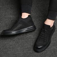 秋季英伦男鞋运动休闲鞋男跑步鞋韩版皮鞋青年男士鞋子板鞋