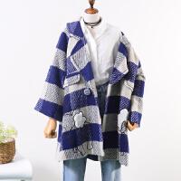 20 秋冬中长款时尚气质毛呢大衣女韩版宽松百搭休闲呢子外套