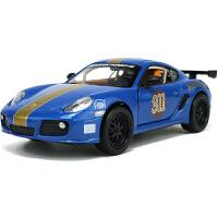 赛车精灵声光回力合金儿童玩具成真车模1:32保时捷卡曼