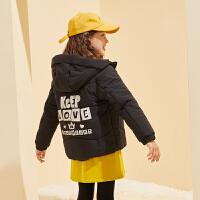 【2件3折:149】巴拉巴拉旗下巴帝巴帝女2019秋冬新款甜美休闲棉服