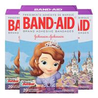 【3盒装】保税区发货 Band Aid/邦迪 公主苏菲亚 创可贴 20枚/盒 海外购