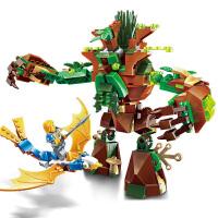 启蒙 海盗军事荣耀之战系列儿童拼插积木益智玩具男孩礼物 古树之战2309