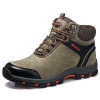 新款雪地靴男士冬季保暖加绒棉鞋户外徒步鞋靴子男休闲高帮鞋潮