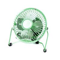 usb迷你风扇静音4寸小风扇 USB桌面散热风扇电风扇 绿色