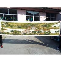 十字绣纯手工绣好成品清明上河图拱桥版新款3米客厅风景山水画