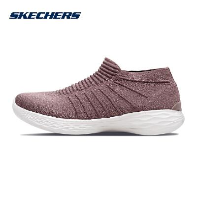 【*注意鞋码对应内长】Skechers斯凯奇女鞋新款YOU系列一脚套 网布懒人休闲鞋 14961 透气网布;运动绑带