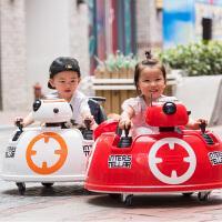 可坐人宝宝玩具摩托车 婴幼儿童电动车四轮摇摆室内带遥控推杆汽车