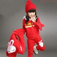 女童套装冬装8韩版9洋气10儿童装11时髦潮12岁小孩衣服加绒三件套