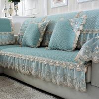 欧式防滑毛绒沙发垫四季通用布艺简约现代纯色靠背巾套子定做