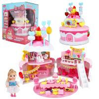 玩具女孩 女童生日礼物糖果屋蛋糕派对别墅娃娃套装儿童过家家