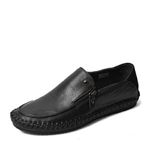BASTO/百思图春季专柜同款牛皮男单鞋15N01AM6