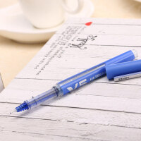 日本百乐/PILOT BXC-V5水性笔 V5升级版环保版/可换墨囊墨胆 直液式针管式中性笔0.5MM黑色红笔学生用走