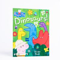 【全店300减100】英文原版进口贴纸书 Peppa Pig: Dinosaurs! Sticker Book 小猪佩奇