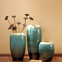 落地花瓶花艺现代简约欧式客厅家居摆件大花瓶插花景德镇陶瓷花瓶