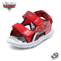 【119元任选2双】迪士尼Disney童鞋新款婴幼童学步鞋麦昆儿童凉鞋酷炫宝宝闪灯鞋(0-4岁可选) JS3266