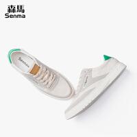 森马男鞋秋季潮鞋2018新款小白鞋男运动休闲鞋白色韩版板鞋子