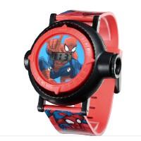 迪士尼儿童手表 男孩防水蜘蛛侠橡胶表带 男童电子式小学生电子表