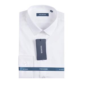 2017秋装新款雅戈尔白色长袖衬衫纯色男装DP纯棉免烫修身版YLDP19003BFY