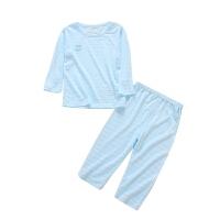 婴儿夏季薄款宝宝内衣套装空调服长袖家居男女宝宝睡衣