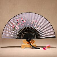 真丝扇子女中国扇古风折扇中式古典舞蹈扇子中国风特色礼品送老外商务礼品定制送客户SN4215