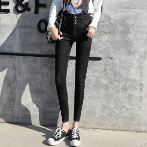 2018新款女装打底牛仔裤韩版修身显瘦小脚裤子夏季弹力铅笔裤子