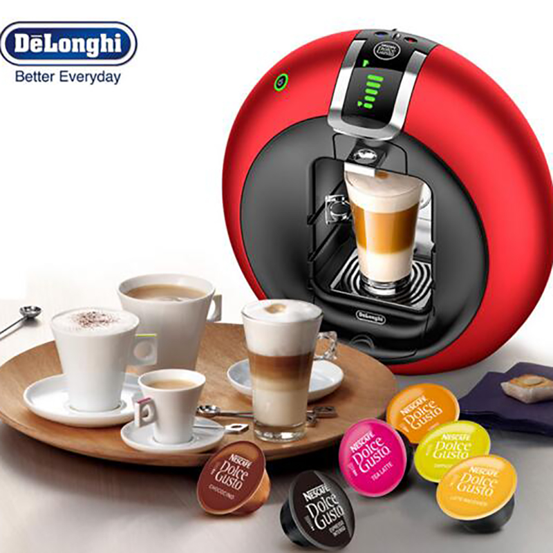 Delonghi/德龙 EDG606DOLCEGUSTO雀巢胶囊咖啡机意式全自动(红色) 意式全自动摩登圆弧造型金属操作简单