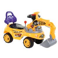 儿童玩具挖掘机1-3岁可坐可骑宝宝大号挖机音乐工程学步车男孩挖土机 标配