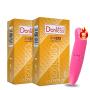 多乐士避孕套新版双保浮点系列2盒 共24只 凸点颗粒 浮点 保险套 情趣 成人用品 +赠情趣1枚