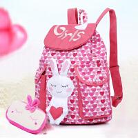 小白兔儿童旅行背包女童6-12周岁双肩包小学生书包1-6年级女生
