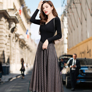 安妮纯2020秋冬季新款时尚针织衫连衣裙女神套装女秋小香风鱼尾裙两件套