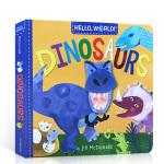 英文原版绘本 你好,世界系列绘本 恐龙 Hello, World! Dinosaurs 纸板书 恐龙知识科普绘本 3-