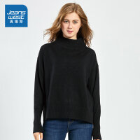 [秒杀价:67.9元,新年不打烊,仅限1.22-31]真维斯女装冬装新款 包芯纱半高领纯色毛衣