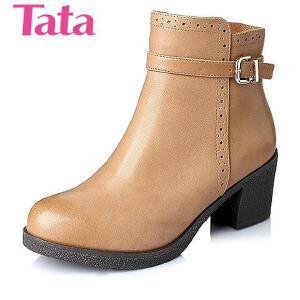 Tata/他她 年专柜同款羊皮女靴L2YA4DD5