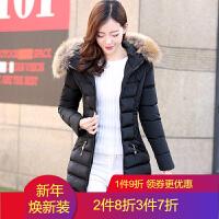 棉衣女中长款2018冬装韩版修身显瘦百搭羽绒外套保暖棉袄