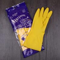 南洋乳胶加厚务防水洗碗牛筋耐磨塑胶用厨房橡胶手套劳保批�l