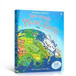 顺丰发货 英文原版 See Inside Planet Earth看里面系列 揭秘地球 科普纸板翻翻机关书 儿童早教认