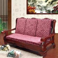 实木沙发坐垫带靠背 加厚红木沙发垫子 一年四季可用联邦椅垫坐垫
