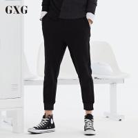 【GXG过年不打烊】GXG休闲裤男装 秋季修身款黑色小脚运动男士休闲九分裤韩版潮流