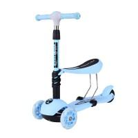 儿童滑板车3轮1-2-3-4-6岁宝宝可坐小孩滑行踏板溜溜车男女初学者