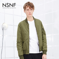 NSNF军绿色刺绣男士飞行员短款棉服 2017秋冬新款
